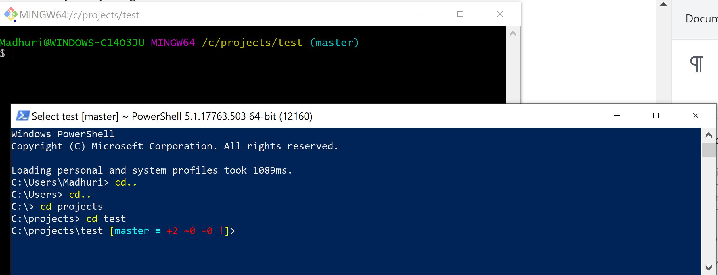 C:\Users\Keith\GitHub\posh-git [master ≡ +0 ~1 -0 | +0 ~1 -0 !]>